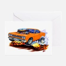 Roadrunner Orange Car Greeting Cards (Pk of 10)