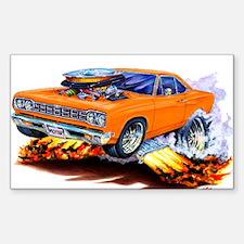 Roadrunner Orange Car Rectangle Decal