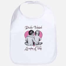Double Blessed Grandma of Twins Bib