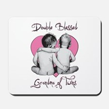 Double Blessed Grandma of Twins Mousepad