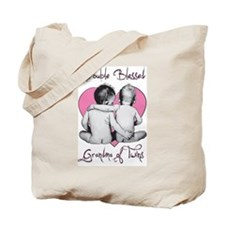 Double Blessed Grandma of Twins Tote Bag