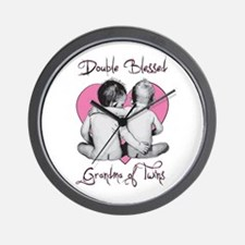 Double Blessed Grandma of Twins Wall Clock