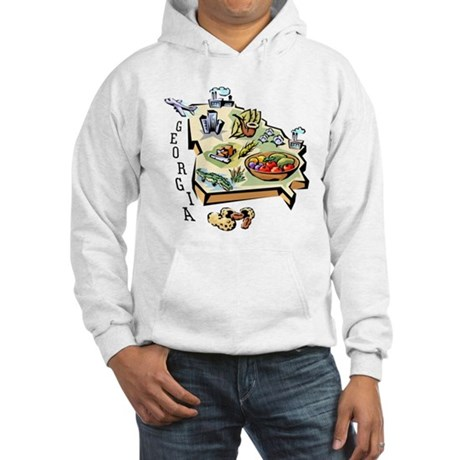 Georgia Map Hooded Sweatshirt