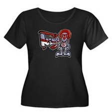 Clown Mascot Women's Plus Size Tee (D)