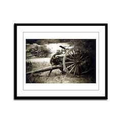 Vintage US Artillery Framed Panel Print