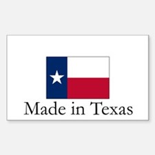 Made in Texas Rectangle Decal