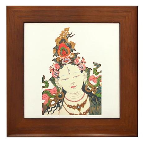 White Tara Framed Tile