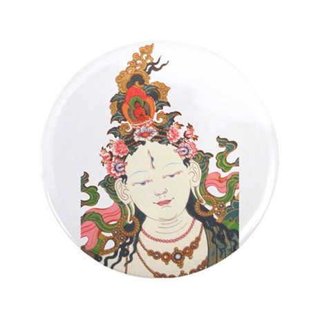 "White Tara 3.5"" Button (100 pack)"