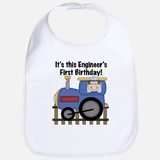 Engineer First Birthday Bib