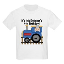 Engineer 4th Birthday T-Shirt
