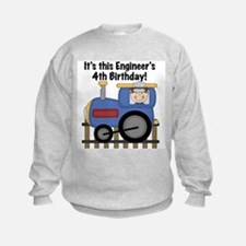 Engineer 4th Birthday Sweatshirt