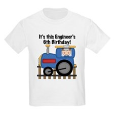 Engineer 6th Birthday T-Shirt