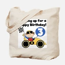 Race Car 3rd Birthday Tote Bag