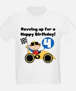 Race Car 4th Birthday T-Shirt