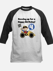 Race Car 4th Birthday Tee