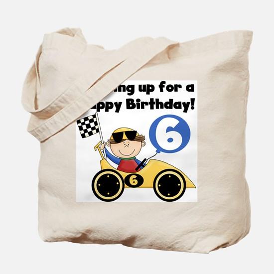 Race Car 6th Birthday Tote Bag