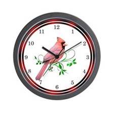 Exquisite Cardinal Wall Clock