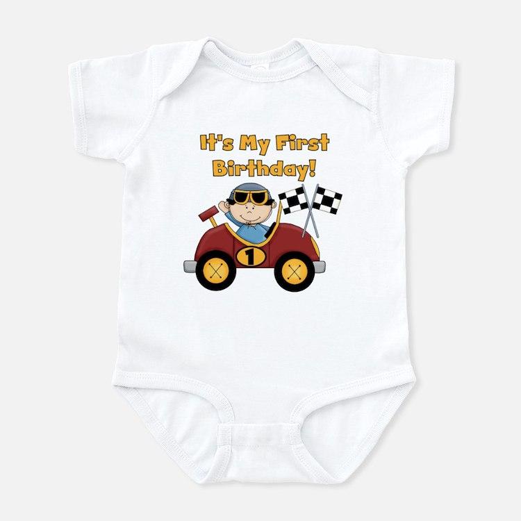 Race Car 1st Birthday Infant Bodysuit