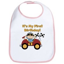 Race Car 1st Birthday Bib