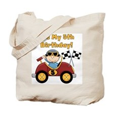 Race Car 5th Birthday Tote Bag