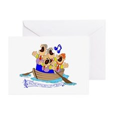 Row row row your boat. Greeting Cards (Pk of 10)