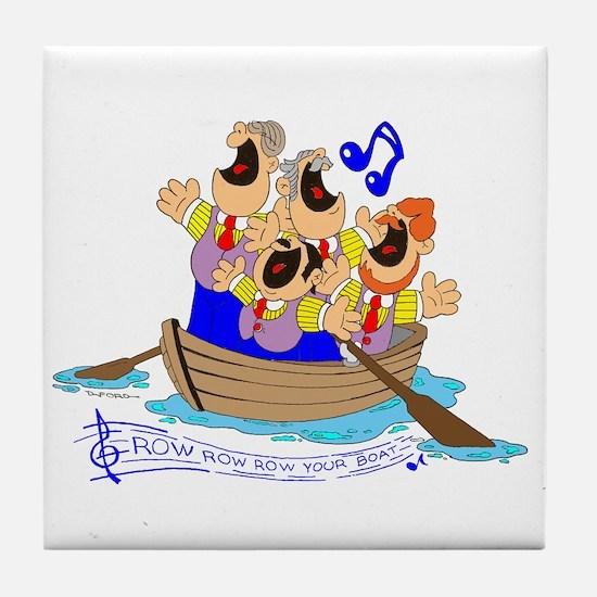 Row row row your boat. Tile Coaster