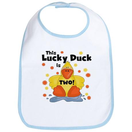 Lucky Duck 2nd Birthday Bib