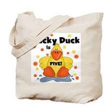 Lucky Duck 5th Birthday Tote Bag