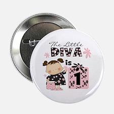 """Diva 1st Birthday 2.25"""" Button"""