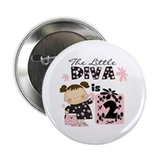 "Diva 2nd Birthday 2.25"" Button"