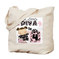 Diva 4th Birthday Tote Bag