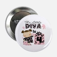 "Diva 4th Birthday 2.25"" Button"