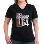 Musclecars 1964 Women's V-Neck Dark T-Shirt