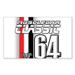 Musclecars 1964 Rectangle Sticker 10 pk)