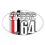 Musclecars 1964 Oval Sticker (10 pk)