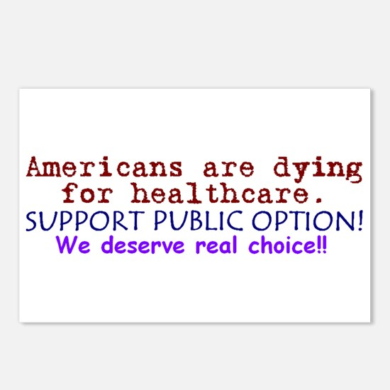 Public Option: REAL Choice! Postcards (Package of