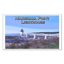 Vintage Style Lighthouse Sticker, Marshall Point