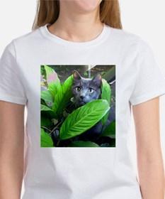 """Grey Cat"" Women's T-Shirt"