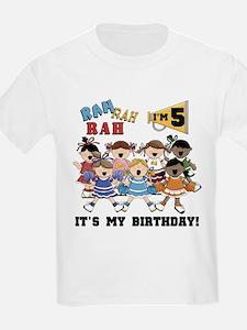 Cheerleader 5th Birthday T-Shirt