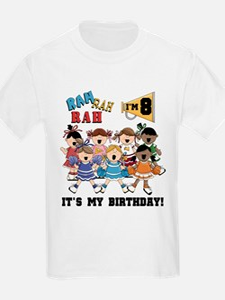 Cheerleader 8th Birthday T-Shirt