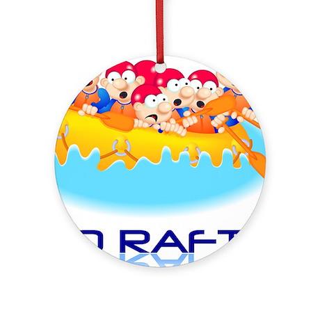 Go Raft Ornament (Round)
