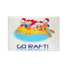 Go Raft Rectangle Magnet