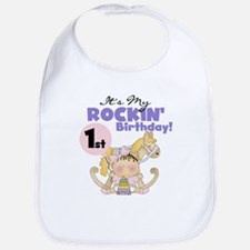 Girl Rockin' 1st Birthday Bib