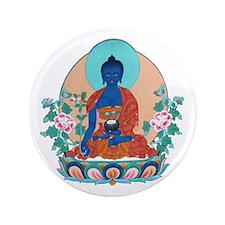 "Medicine Buddha 3.5"" Button (100 pack)"