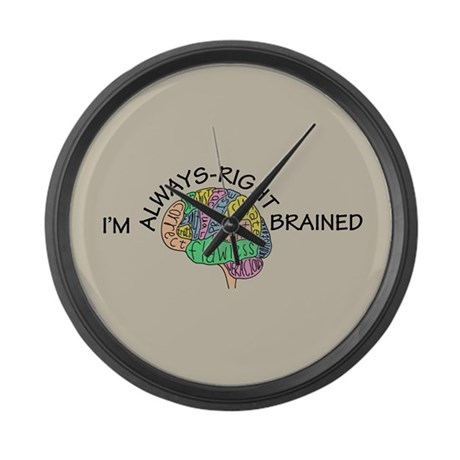 Always-Right Brained Large Wall Clock