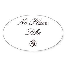no place like om Oval Sticker (50 pk)