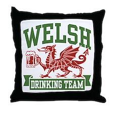 Welsh Drinking Team Throw Pillow