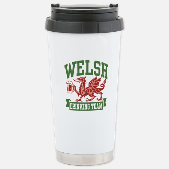 Welsh Drinking Team Stainless Steel Travel Mug