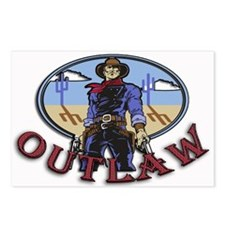 Cowboy Outlaw Postcards (Package of 8)