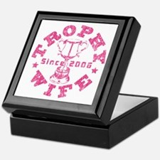 Trophy Wife since 06 Pink Keepsake Box